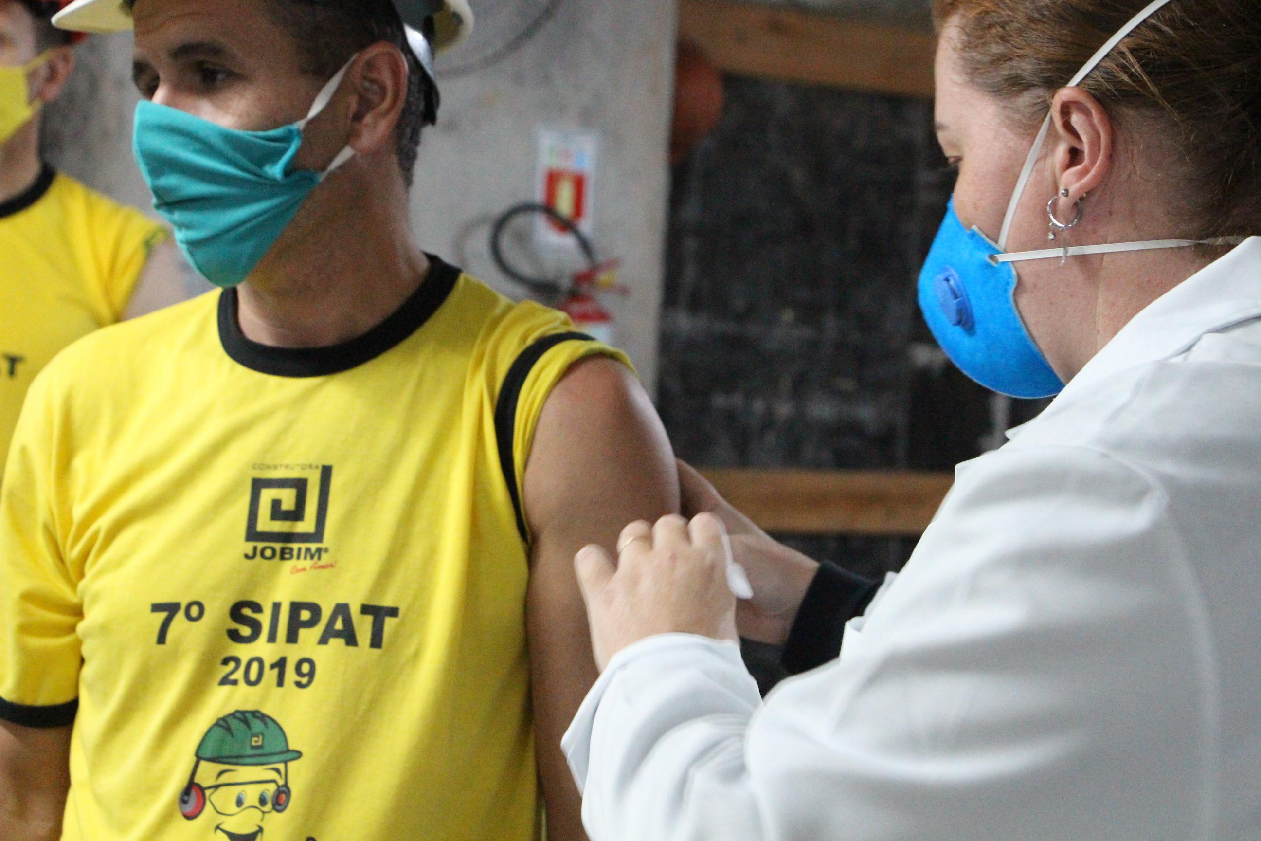 Campanha de vacinação contra a gripe no empreendimento Espírito Santo.